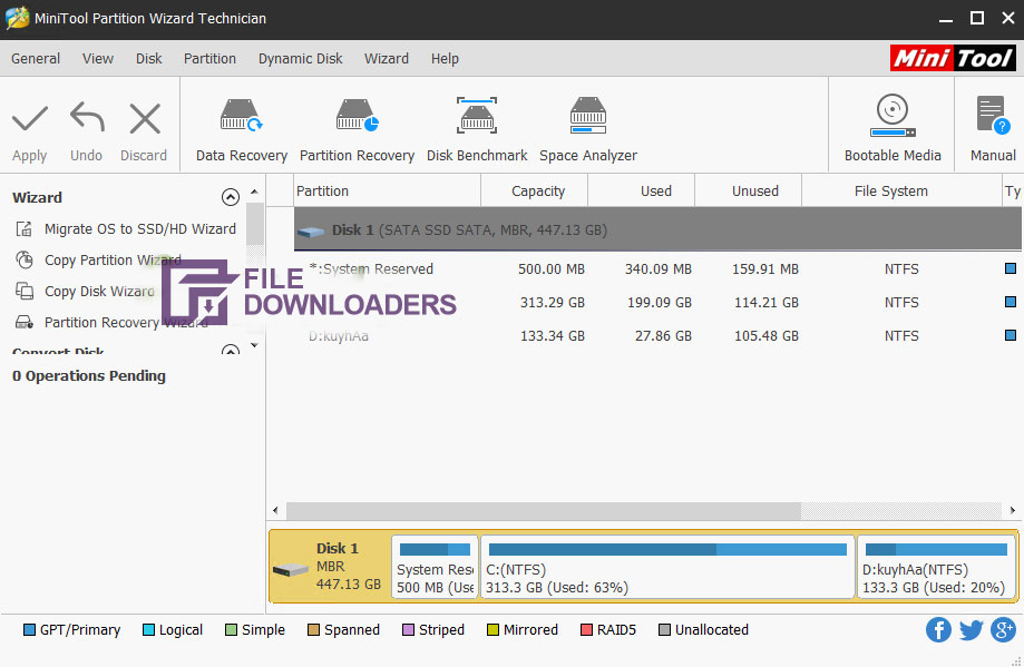 Minitool Partition Wizard for Windows