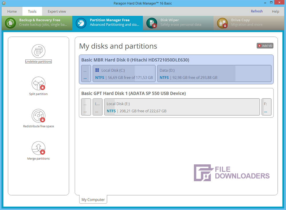 Paragon Partition Manager for Windows