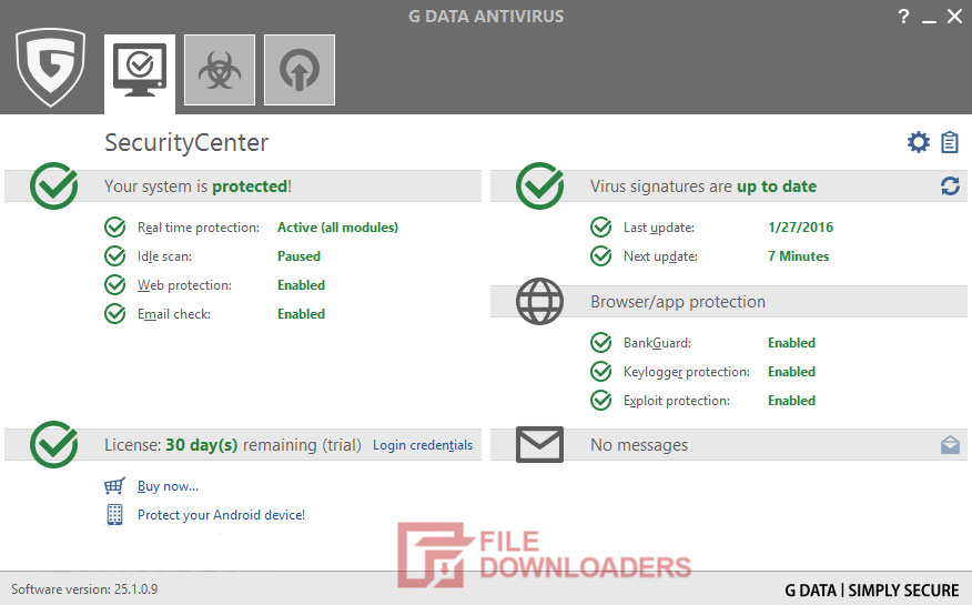 G DATA Antivirus for Windows