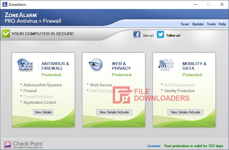 ZoneAlarm Free Antivirus for Windows