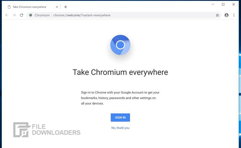 Chromium for Windows