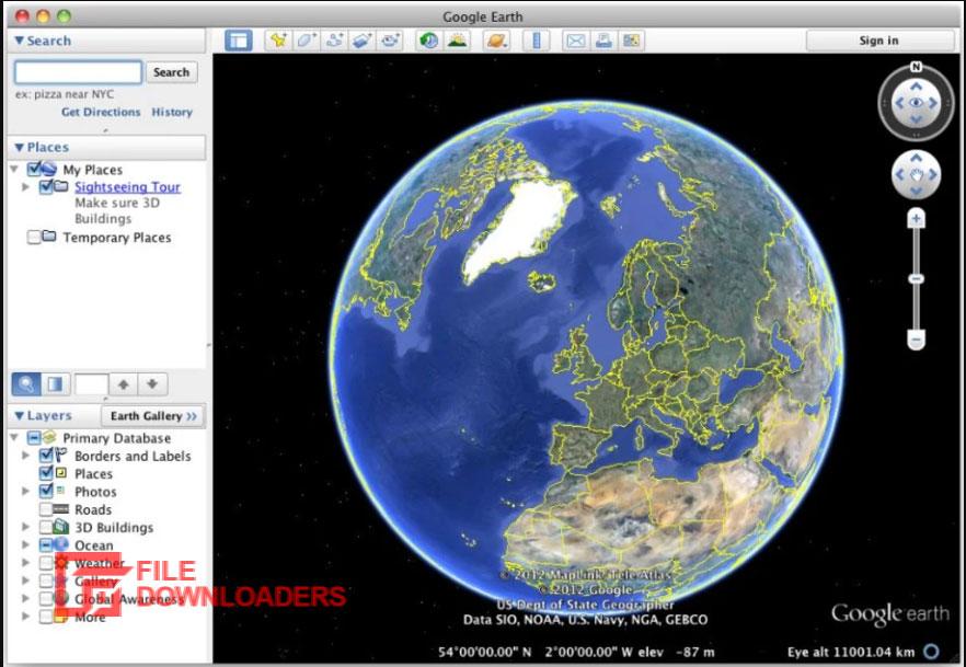 Google Earth for Mac