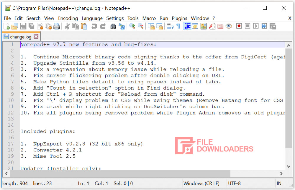 Notepad++ for Windows