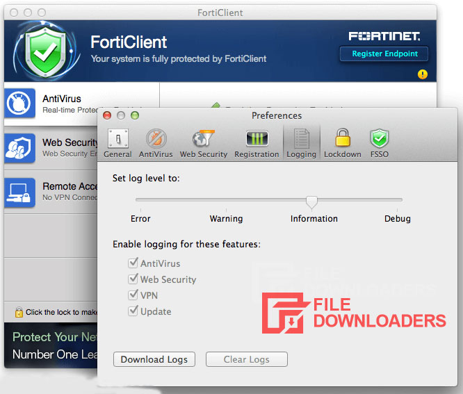 FortiClient for Mac OS