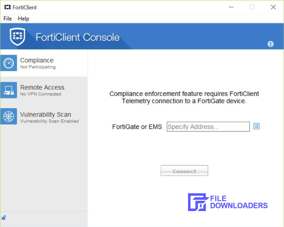 FortiClient for Windows