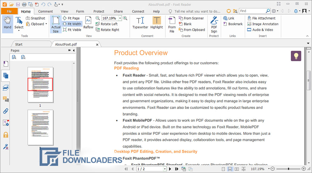 Foxit Reader for Windows