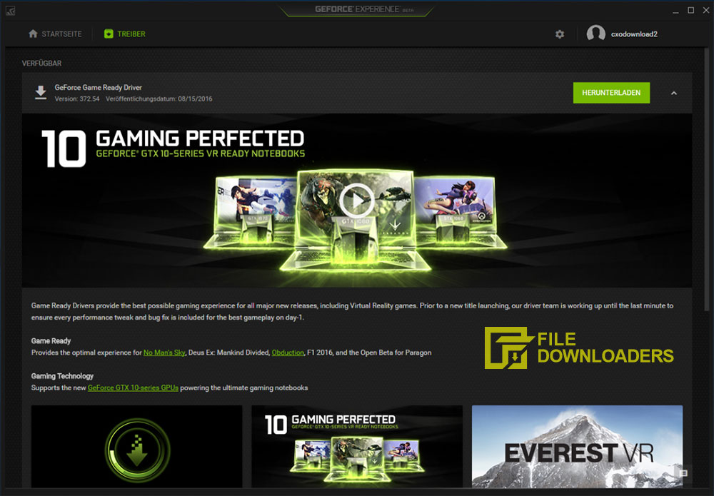 NVIDIA GeForce Experience for Windows