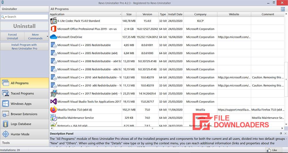 Revo Uninstaller for Windows