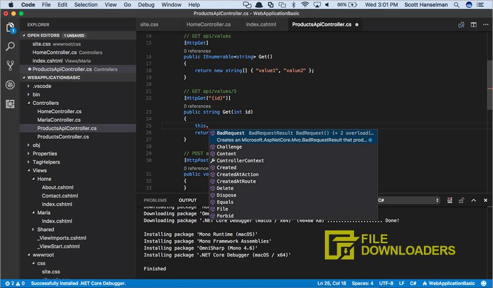 Visual Studio Code for Mac OS