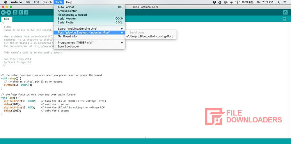 Arduino IDE for Mac OS