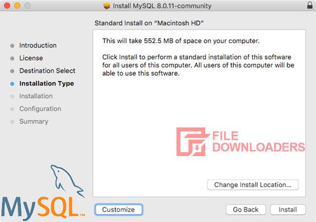 MySQL for Mac OS