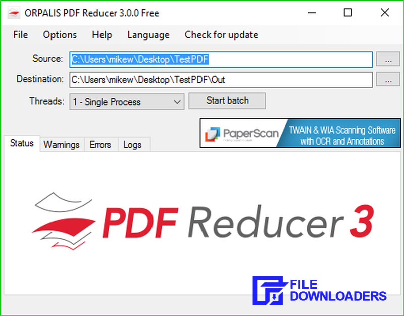 ORPALIS PDF Reducer for Windows