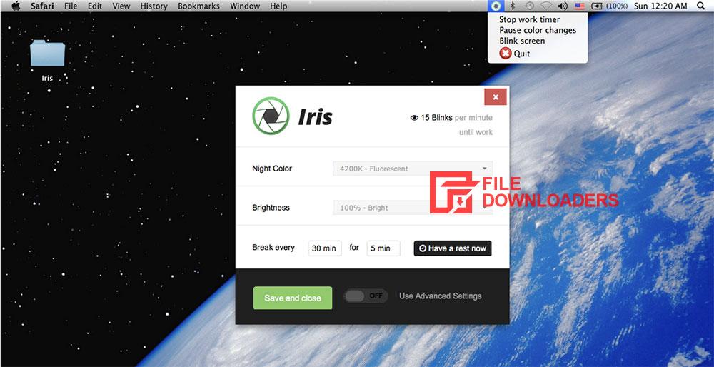 Iris for Mac OS