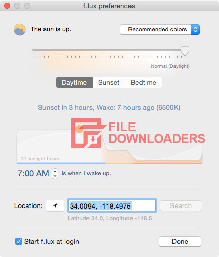 F.lux for Mac OS