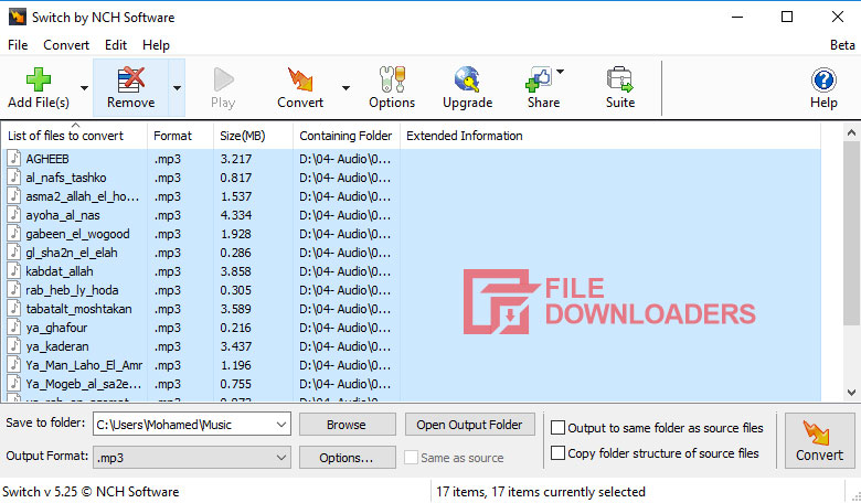 Switch Sound File Converter for Windows