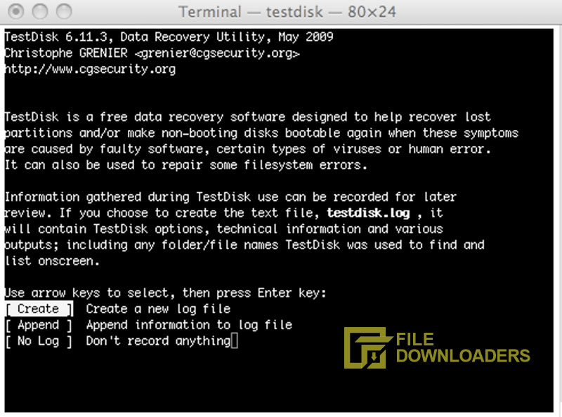 TestDisk for Mac OS