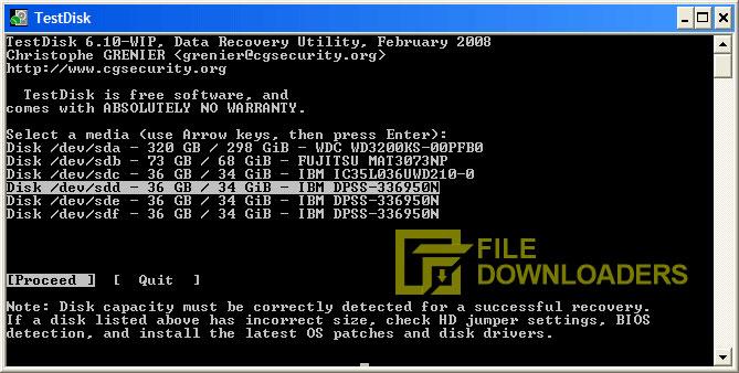 TestDisk for Windows