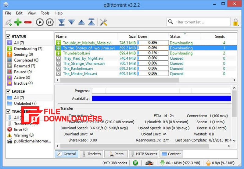 qBittorrent for Windows