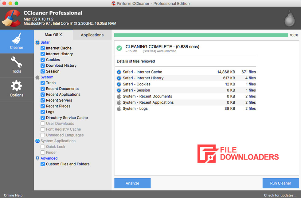 CCleaner for Mac OS