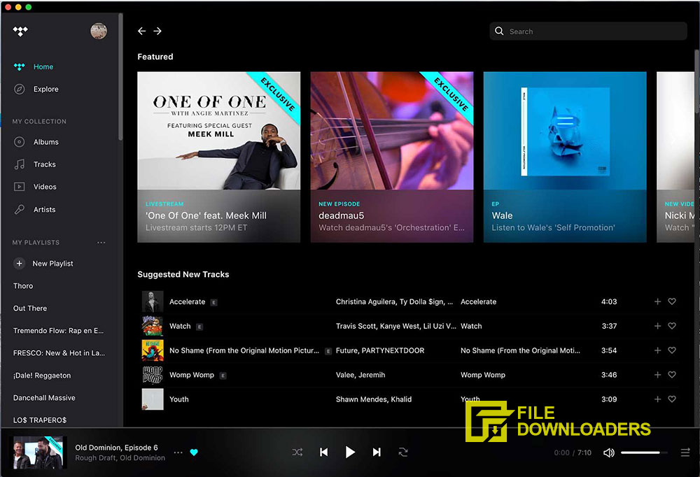 TIDAL Desktop for Mac OS