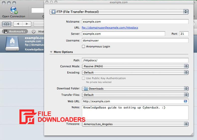 Cyberduck for Mac OS