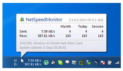NetSpeedMonitor for Windows