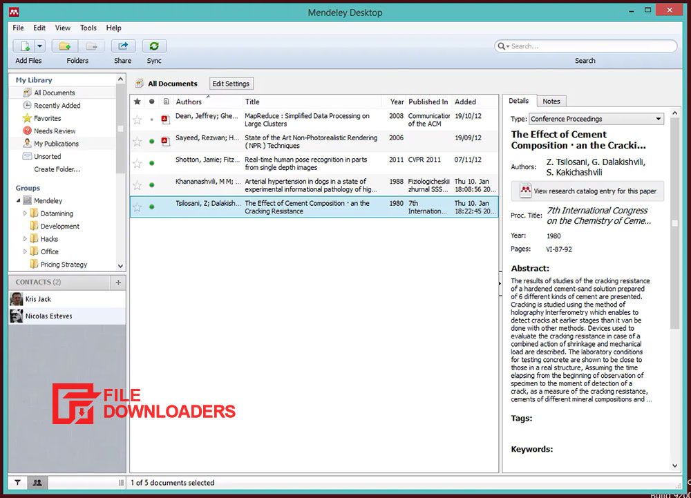 Mendeley Desktop for Windows