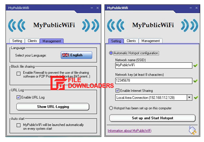 MyPublicWiFi for Windows